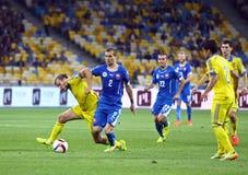 UEFA euro 2016 Kwalifikacyjnych gemowych Ukraina vs Sistani Zdjęcia Stock