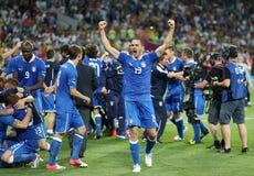 UEFA-EURO 2012 Kwartfinalespel Engeland v Italië Stock Foto