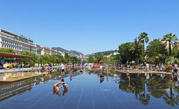 UEFA EURO 2016 letters at Promenade du Paillon in Nice, France Stock Photos