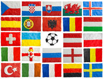 UEFA EURO 2016 member countries flags made of plasticine. The flags of members of European championship 2016 Stock Photos