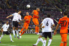Uefa-EURO 2012 modiga Nederländerna vs Tyskland Arkivbild