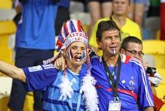 Uefa-EURO 2012 modiga Sverige vs Frankrike Arkivbilder
