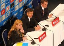 UEFA EURO 2016 Play-off for final: Slovenia v Ukraine. MARIBOR, SLOVENIA - NOVEMBER 17, 2015: Head coach of Slovenia National football team Srecko Katanec on Royalty Free Stock Image