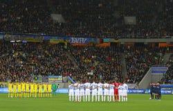 UEFA EURO 2016 Play-off game Ukraine vs Slovenia Stock Photos