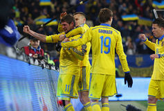 UEFA EURO 2016 Play-off game Ukraine vs Slovenia Royalty Free Stock Photography