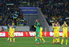 UEFA EURO 2016 Play-off game Ukraine vs Slovenia Stock Photo