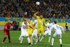 UEFA EURO 2016 Play-off game Ukraine vs Slovenia Stock Photography