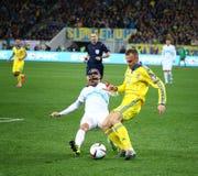 UEFA EURO 2016 Play-off game Ukraine vs Slovenia Royalty Free Stock Photos