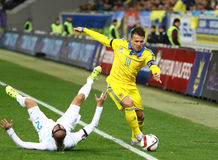 UEFA EURO 2016 Play-off game Ukraine vs Slovenia Royalty Free Stock Images