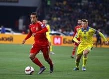 UEFA-EURO Qualifikationsrundespiel 2016 Ukraine gegen Spanien Stockbild