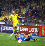 UEFA EURO 2016 Qualifying game Ukraine vs Slovakia Stock Photography