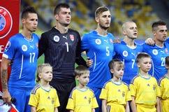 UEFA EURO 2016 Qualifying game Ukraine vs Slovakia Royalty Free Stock Photography