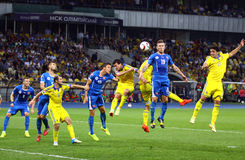 UEFA EURO 2016 Qualifying game Ukraine vs Slovakia Stock Image