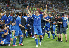 UEFA EURO 2012 Quarter-final game England v Italy Stock Photo