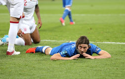 UEFA EURO 2012 Quarter-final game England v Italy. KYIV, UKRAINE - JUNE 24, 2012: Riccardo Montolivo of Italy reacts after missed a goal during UEFA EURO 2012 Stock Images