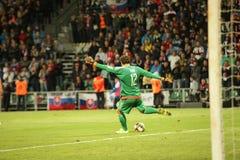 UEFA EURO 2016   Slovakia - Ukraine match on September 8, 2015 Royalty Free Stock Photos