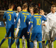 UEFA EURO 2016   Slovakia - Ukraine match on September 8, 2015 Stock Images