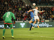 UEFA-EURO Slowakei 2016 - Ukraine passen am 8. September 2015 zusammen Lizenzfreie Stockbilder