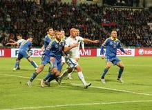 UEFA-EURO 2016 Slowakije - de gelijke van de Oekraïne op 8 September, 2015 Royalty-vrije Stock Foto