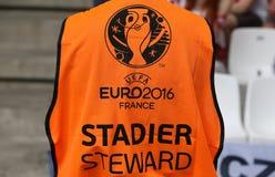 UEFA-EURO 2016 spel de Oekraïne v Polen Stock Foto