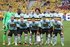 UEFA euro 2016: Szwecja v Belgia Zdjęcie Royalty Free