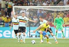 UEFA euro 2016: Szwecja v Belgia Fotografia Stock