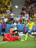 UEFA euro 2016: Szwecja v Belgia Obrazy Royalty Free