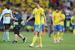 UEFA euro 2016: Szwecja v Belgia Obraz Royalty Free
