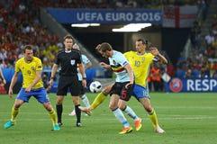 UEFA euro 2016: Szwecja v Belgia Fotografia Royalty Free