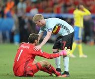 UEFA euro 2016: Szwecja v Belgia Obraz Stock