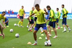 UEFA EURO 2016: Ukraine pre-match training in Lyon Royalty Free Stock Photography
