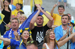 UEFA EURO 2016: Ukraine v Poland Royalty Free Stock Photos