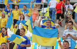 UEFA EURO 2016: Ukraine v Poland Royalty Free Stock Photography