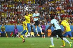 UEFA-EURO 2016: Zweden v België Royalty-vrije Stock Fotografie