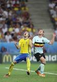 UEFA-EURO 2016: Zweden v België Royalty-vrije Stock Foto