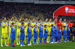 Uefa-EUROkvalificering 2016 modiga Ukraina vs Slovakien Royaltyfri Foto