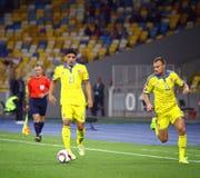 Uefa-EUROkvalificering 2016 modiga Ukraina vs Slovakien Fotografering för Bildbyråer