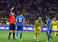 Uefa-EUROkvalificering 2016 modiga Ukraina vs Slovakien Royaltyfri Bild