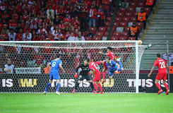 UEFA Europa League Final football game Dnipro vs Sevilla Royalty Free Stock Images