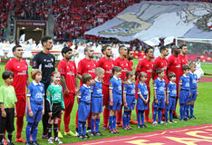 UEFA Europa League Final football game Dnipro vs Sevilla Royalty Free Stock Photos