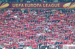 UEFA Europa League Final football game Dnipro vs Sevilla Stock Photos