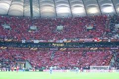 UEFA Europa League Final football game Dnipro vs Sevilla Stock Photo