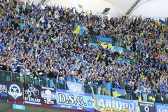 UEFA Europa League Final football game Dnipro vs Sevilla Royalty Free Stock Photography