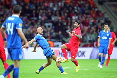 UEFA Europa League Final football game Dnipro vs Sevilla Royalty Free Stock Images