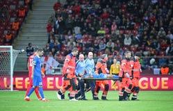 UEFA Europa League Final football game Dnipro vs Sevilla Royalty Free Stock Photo