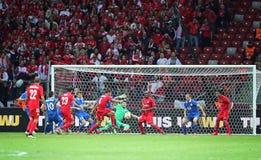 UEFA Europa League Final football game Dnipro vs Sevilla Royalty Free Stock Image