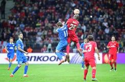 UEFA Europa League Final football game Dnipro vs Sevilla Stock Image