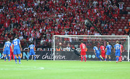 UEFA Europa League Final game Dnipro vs Sevilla Stock Photos