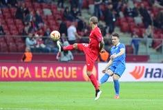UEFA Europa League Final game Dnipro vs Sevilla Stock Images