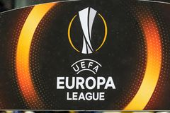 UEFA Europa League football match Dynamo Kyiv – AEK, February stock image